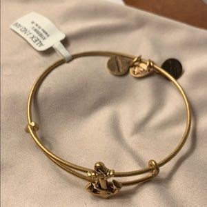 Alex & Ani gold Anchor bracelet